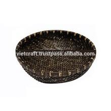 Cheap black bamboo baskets weaving for fruit/vegetable from Vietnam
