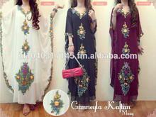 fashion emboridery muslim dress islamic chiffon kaftans stock available muslim woman islamic clothing three colors