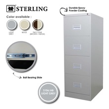 Filing Cabinet with Recess Handle - 4 Drawer