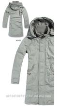 New Fashion Band Collar Autumn/Winter Women's Outwear Jacket Long Coar