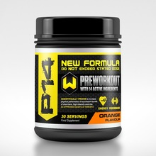 Pre workout powder energy boost sports gym body building supplement ORANGE flavour 450g tubs Private labelled
