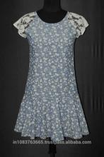 2015 new fashional short dress women summer crochet work dress short sleeve casual dress