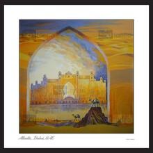 Atlantis hotel building painting