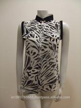 2014 Women Casual Shirts Spring Summer Sleeveless women Chiffon Top Shirt Blouses Plus Size S-XXXL India supplier