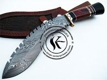 Gurkha Khukuri Custom Hand Made Damascus Steel Hunting Kukri Knife 728