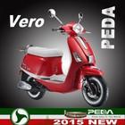 (Vero) 2015 NEW gas scooter 50cc 125cc 4 stroke EEC COC Italian design EXCLUSIVE (PEDA MOTOR)