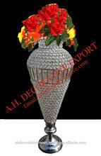 Crystal Flower Vase, Wedding Decoration Centerpiece Crystal Vase