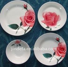 nice ceramics plate with flower