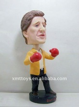 2012 resin toy bobble head figure height 10cm light simulation gift christmas came from experience master's hand