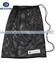 black eco mesh bags drawstring