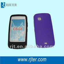 silicone gel phone case for Nokia C5-03-any color