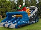 2012 Huge commercial grade vinyl tarpaulin giant inflatable pirate ship slide