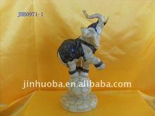 resin elephant figurine, elephant statue, animal decoration