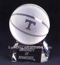 Crystal ball, Crystal sphere, crystal basketball with crystal base