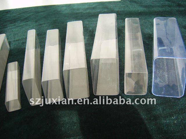 Pvc transparente tubo cuadrado tubo transparente tubos - Tubo pvc cuadrado ...
