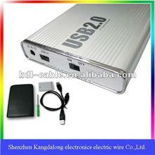 2.5 inchs ATA IDE laptop hard disk drive USB external portable enclosure box case