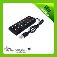win7 USB 2.0 super speed 13 Ports on-off HUB