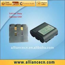 3.6V Repalcement Digital Camcorder Battery For SHARP