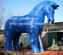 giant inflatable horse cartoon inflatable blue horse model