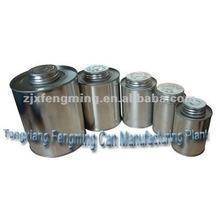 quart and gallon metal tin can, pint tin can