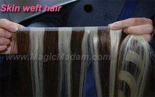 Skin Hair weft ,4/613# ,90cm ,100% human hair