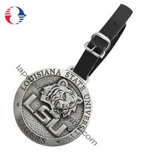 3D Metal Golf Bag Tag with Leather Strap