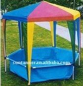 children gazebo with swimming pool / hexagonal gazebo / swimming pool and gazebo