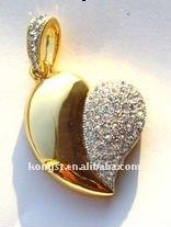 heart usb/Jewelry diamond gift usb flash drives/usb gift