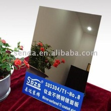 mirror finish PVD gold Stainless Steel Sheet