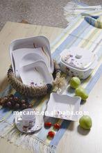 6PCS Colorful Melamine Dinnerware Set