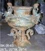 Bronze antique Cherubs Planter Urn