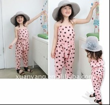 2012 fashion pink cute with star children pant