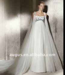 AWB0106 2012 High Quality Graecism Watteau Wedding Gowns Dress For Pregnant Women