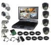 "8 SONY CCD cameras + 8CH security DVR with 10.5"" LCD Monitor + 1000GB hard disk Home Camera Security System"