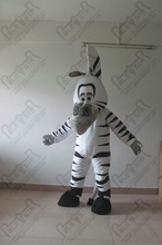 2012 hot zebra cartoon plush mascot costume NO.2831