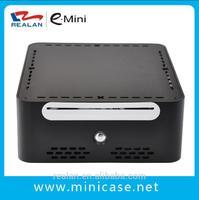 black aluminum mini itx horizontal computer case E-Q5 ,Welcome OEM ,no compulsive quantity requirement