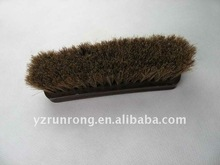 Shoe brush with horse hair