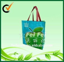 Easy carry laminated shopping tote bag