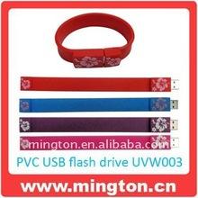 Promotion PVC usb flash drive wristband