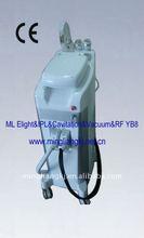 2012 New multi-functional Vertical IPL beauty equipment (ML Ultrasound+IPL+RF+VACUUM YB8)