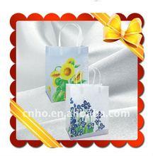 Flower paper carrier bag