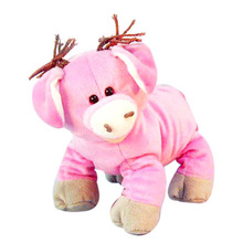 pink lovely stuffed pig plush toy