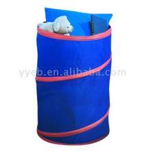 Round Pop Up Laundry Hamper Polyester Laundry Basket