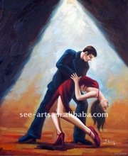 modern dance oil painting on canvas SJP-0164