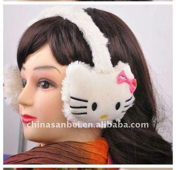 kitty fur earmuff ear warmer