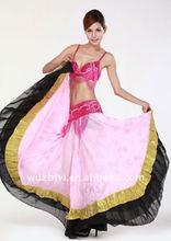 Pink&Black Belly Dance Gypsy Skirt (QC1294)