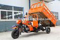 Poderosa auto dumping triciclo de carga, motocicleta de três rodas