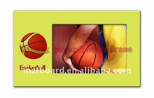 Newest colorful Printable yellow paper foto frame for Basketball