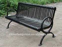 metal park bench - steel ends, galvanized steel, hot dipped zinc primer