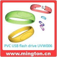 4GB Silicone medical id bracelet usb flash drive